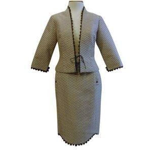 Lela Rose skirt suit career feminine classy Sz 6